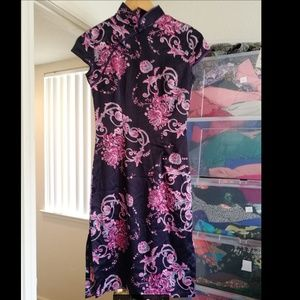 Dresses & Skirts - Floral Asian style dress. Like new